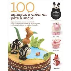 """Livre """"100 animaux à créer en pâte à sucre"""""""