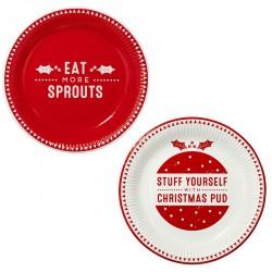 8 assiettes Christmas en carton