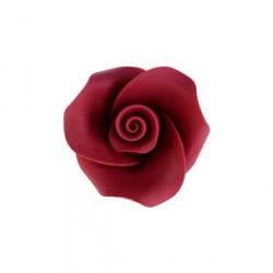 6 roses rouges pour décoration de gâteau