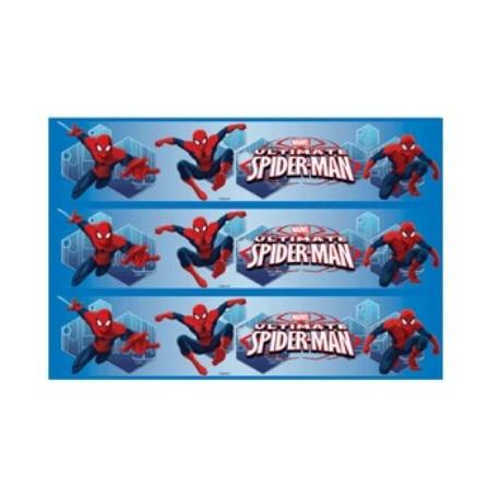 Bandes de pâte à sucre gâteau Spiderman 28 cm