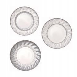 12 mini assiettes argentées en carton