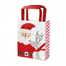 8 sacs en papier Père Noël