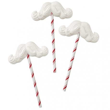 """Moule à chocolats """"moustache du père Noël"""""""