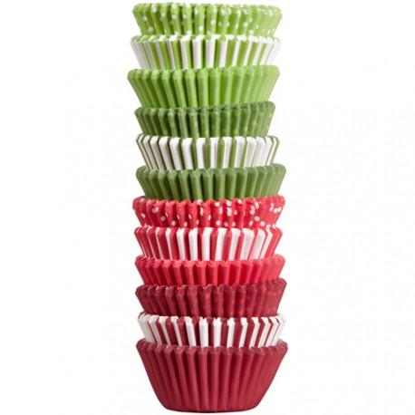 300 mini caissettes assortiement rouge et vert