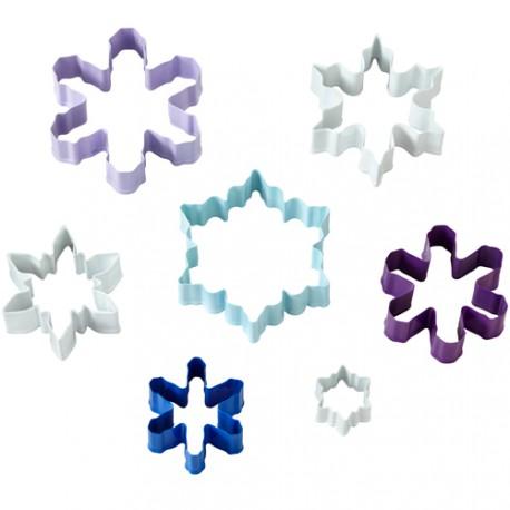 """7 emporte-pièces """"flocon de neige"""""""