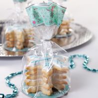 """3 sachets à biscuits """"flocon de neige"""""""