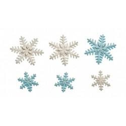 """9 décorations en sucre """"flocons de neige"""""""