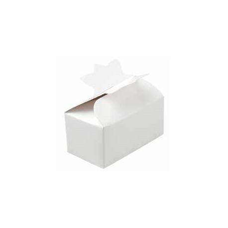 4 boîtes à friandises blanches
