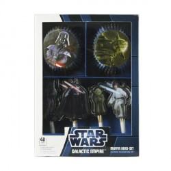 24 caissettes et pics à cupcakes Star Wars