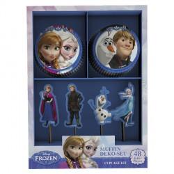 24 caissettes et pics à cupcakes La Reine Des Neiges