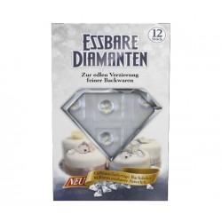 12 diamants décoratifs comestibles