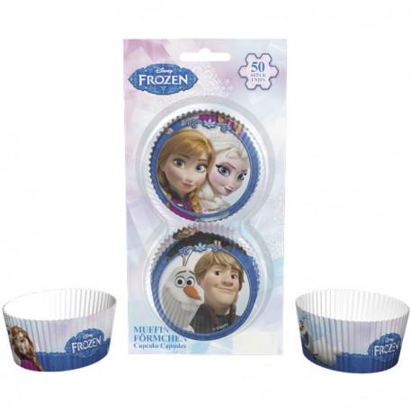 50 caissettes à cupcake - La Reine Des Neiges