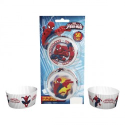 50 caissettes à cupcake - Spiderman