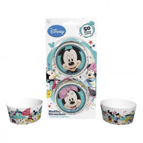 50 caissettes à cupcake - Mickey et Minnie