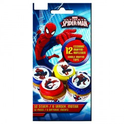 Toppers comestibles pour cupcakes - Spiderman