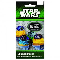 Toppers comestibles pour cupcakes - Star Wars