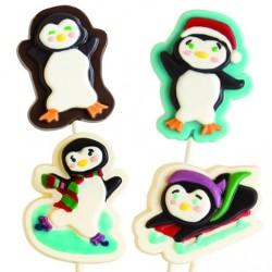 """Moule à sucette """"pingouin de Noël"""""""