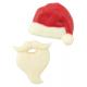 """Moule à chocolat """"barbe et bonnet du Père Noël"""""""