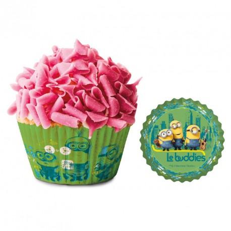 """50 caissettes à cupcakes standard """"Minions"""""""