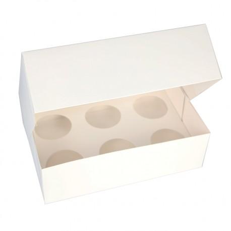 3 boîtes à cupcakes blanches 25x17cm