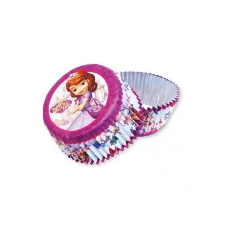 """24 caissettes à cupcakes standard """"Princesse Sofia"""""""