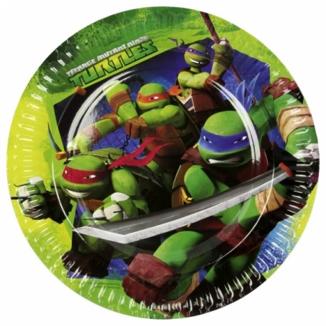 "8 assiettes ""Tortues Ninja"""