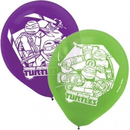 "6 ballons ""Tortues Ninja"""