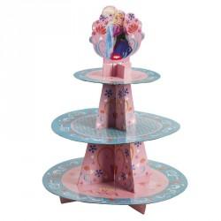 """Présentoir à cupcakes """"La Reine des Neiges"""""""