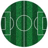 Disque de sucre terrain de football - 16 cm