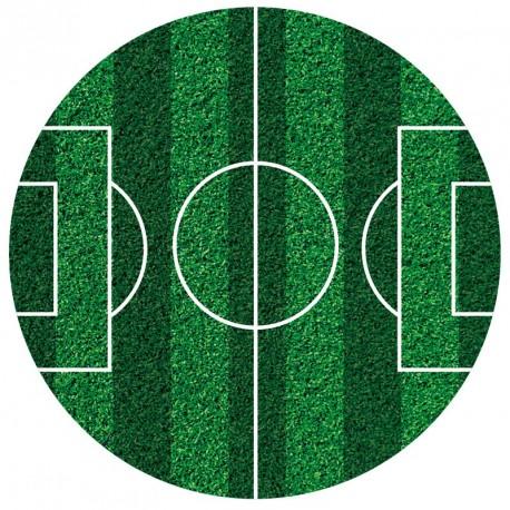 Disque de sucre terrain de football - 16 cm