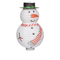 Lanterne bonhomme de neige