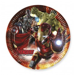 8 assiettes 23 cm - Avengers Ag of Ultron