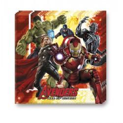 20 serviettes - Avengers Age of Ultron