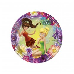8 assiettes 23 cm - Fairies Disney