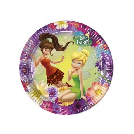 8 assiettes 23 cm - Fairies Disney