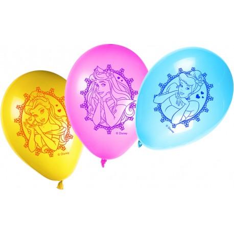 8 ballons - Princesses Disney