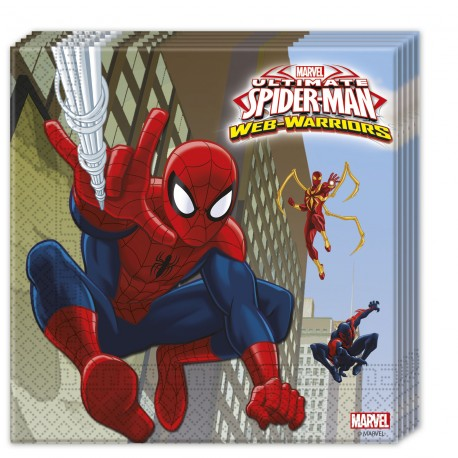 20 serviettes - Spiderman