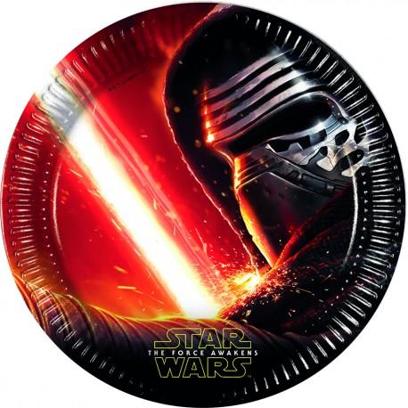 8 assiettes 23 cm - Star Wars Le Reveil de la Force