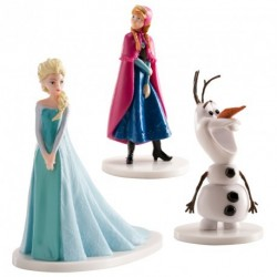 "Lot 3 figurines ""reine des neiges"""