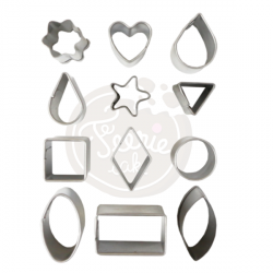 12 mini emporte-pièces différentes formes