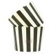 """20 caissettes de présentation """"rayées"""" - Différentes couleurs"""