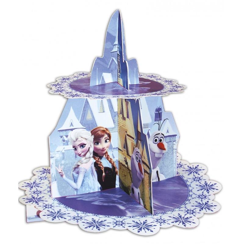 prsentoir cupcakes la reine des neiges