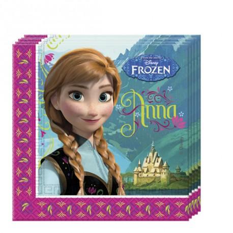 20 serviettes en papier - La Reine des Neiges 2