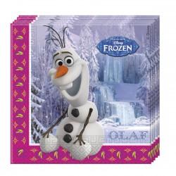 20 serviettes en papier - La Reine des Neiges Olaf