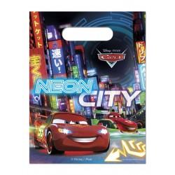 6 sacs à bonbons - Cars néon