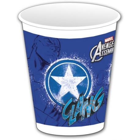 8 gobelets - Avengers Captain America