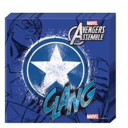 20 serviettes en papier- Avengers Captain America