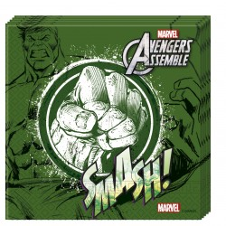 20 serviettes en papier- Avengers Hulk