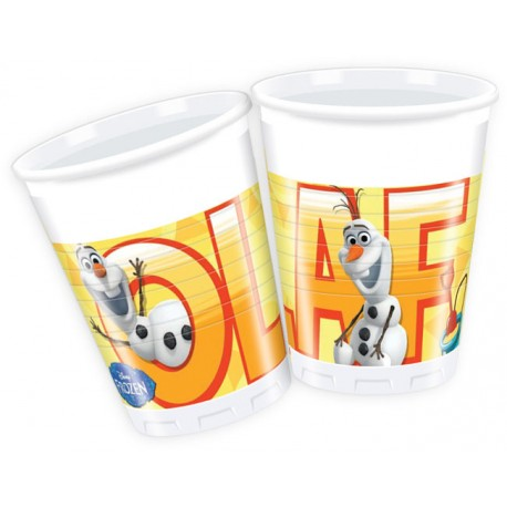 8 gobelets - Olaf en été