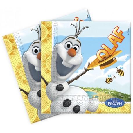 20 serviettes en papier- Olaf en été